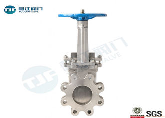 Manual Operation Industrial Gate Valve Unidirectional Wafer Knife Edge Type