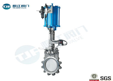 Unidirectional Knife Valve , Pneumatic Stainless / Cast Steel Gate Valve