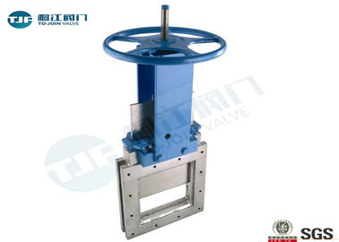 Mild Steel Square Industrial Gate Valve / Knife Valve MSS SP-61 Unidirectional