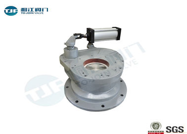 Flanged Ceramic Gate Valve Pneumatic Rotating Type For Coal Fired Power Plant