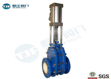 Pneumatic Industrial Gate Valve , Ceramic Double Disc Gate Valve