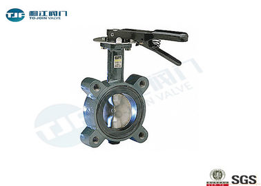 Semi - Disc Wafer Style Butterfly Valve , PN 16 Cast Iron Butterfly Valve