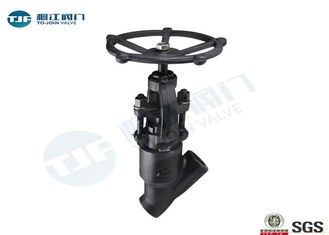 Class 800 LB Y Pattern Globe Valve , Forged Steel A 105 Threaded Globe Valve