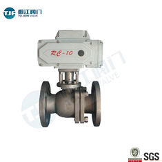 Industrial Stainless Steel Ball Valve , ASME B16.10 Electric Actuated Ball Valve
