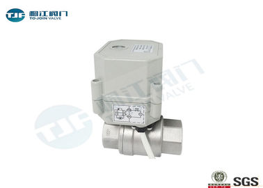 SUS304 Micro Electric Industrial Ball Valve NPT Or BSPT Threaded Type
