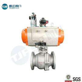 DIN 3357 WCB Industrial Ball Valve With Single Acting Penumatic Actuator