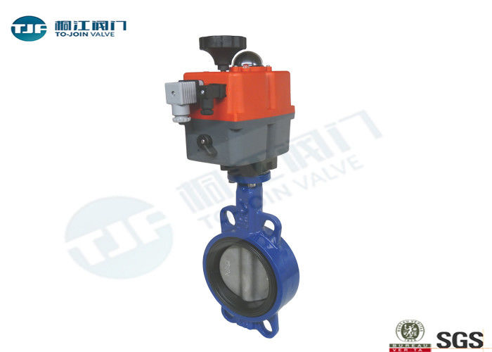 110V - 230V Electrically Operated Butterfly Valve Cast Steel Material Made supplier