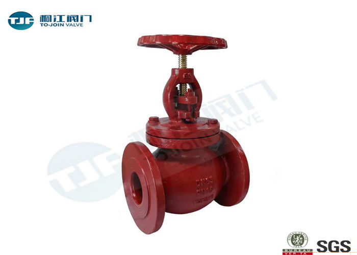 Ductile Iron Globe Valve BS 5152 PN 16 Bar Screw Lift Type With Flange Ends supplier