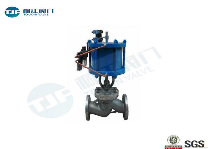 Flanged Globe Stop Valve With Double - Acting Pneumatic Actuator PN 16 Bar supplier